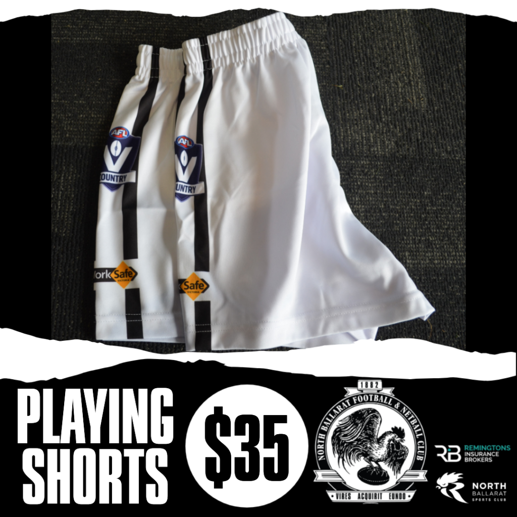 playing shorts white
